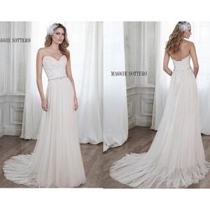 Maggie Soterro Patience Wedding Gown Lace Tulle 14